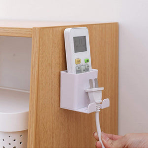 Wall-Mounted Mobile Phone Charging Stand with Hook