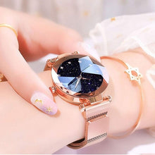 Load image into Gallery viewer, Luxury Water-resistant Magnetic Strap Starry Sky Watch