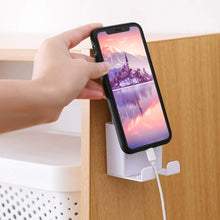Load image into Gallery viewer, Wall-Mounted Mobile Phone Charging Stand with Hook