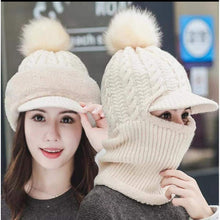 Load image into Gallery viewer, Womens Girls Knit Beanie Scarf Mask Set