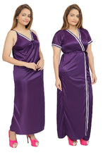 Load image into Gallery viewer, Women Nighty with Robe (Purple)