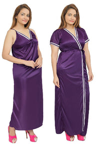 Women Nighty with Robe (Purple)