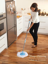Load image into Gallery viewer, Spin Mop with Easy Wheels and Bucket with 2 Refills