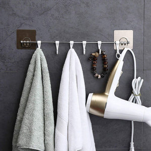Stainless Steel 6 Hook Hanger for Kitchen