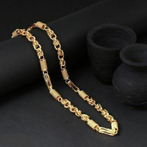 Designer Link Chain with Gold Plating