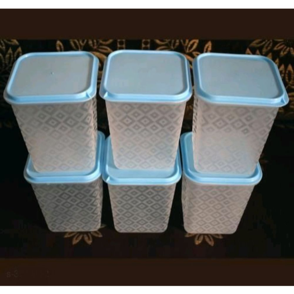 Kitchen Storage Plastic Boxes (1000 ml Each)