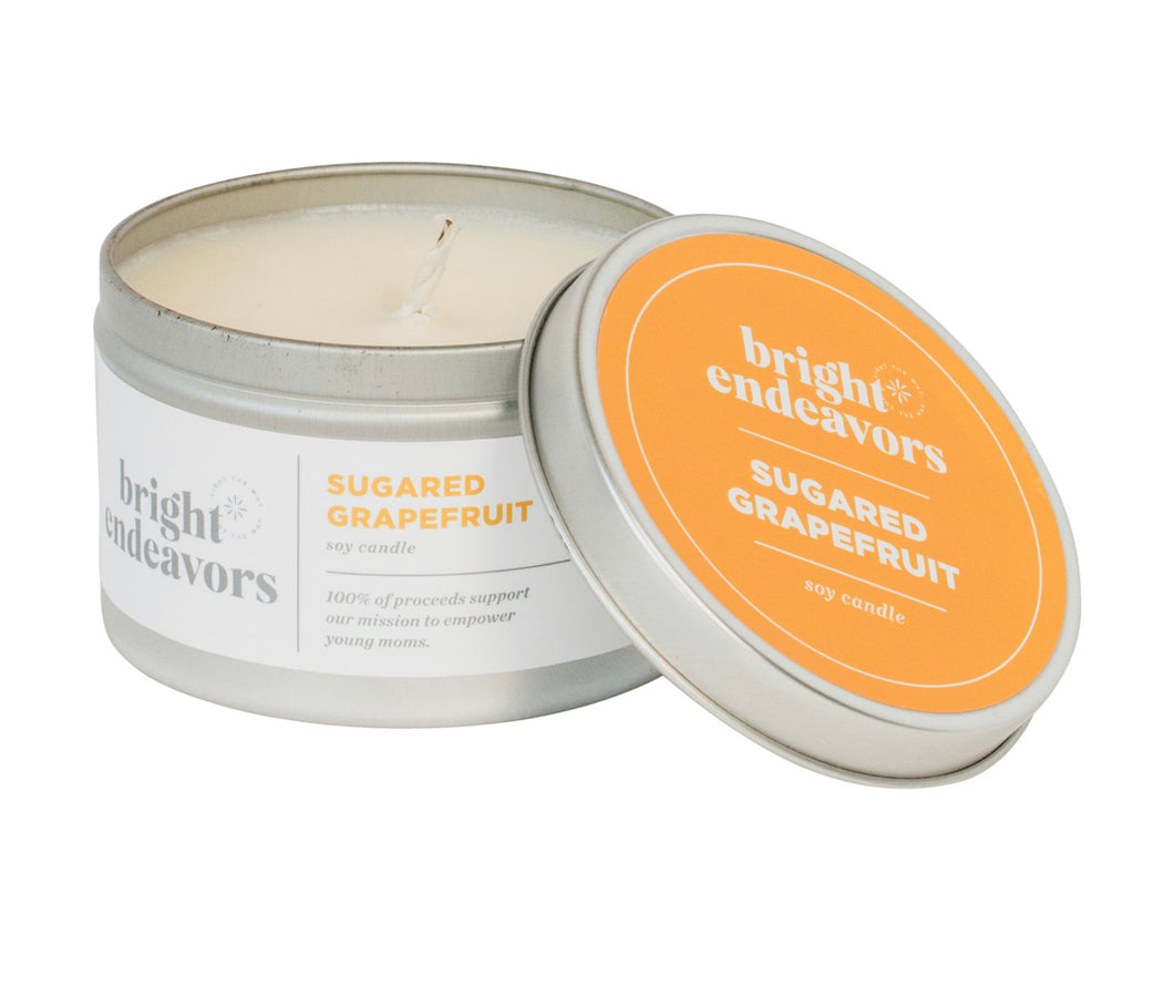 Sugared Grapefruit Tin Soy Candle