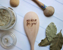 Load image into Gallery viewer, hand engraved wooden cooking spoon