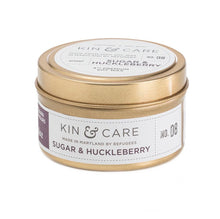Load image into Gallery viewer, Kin & Care Sugar and Huckleberry 4 oz Candle