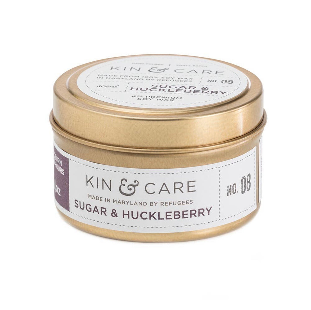 Kin & Care Sugar and Huckleberry 4 oz Candle