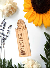 Load image into Gallery viewer, Tolkien hand engraved wooden bookmark