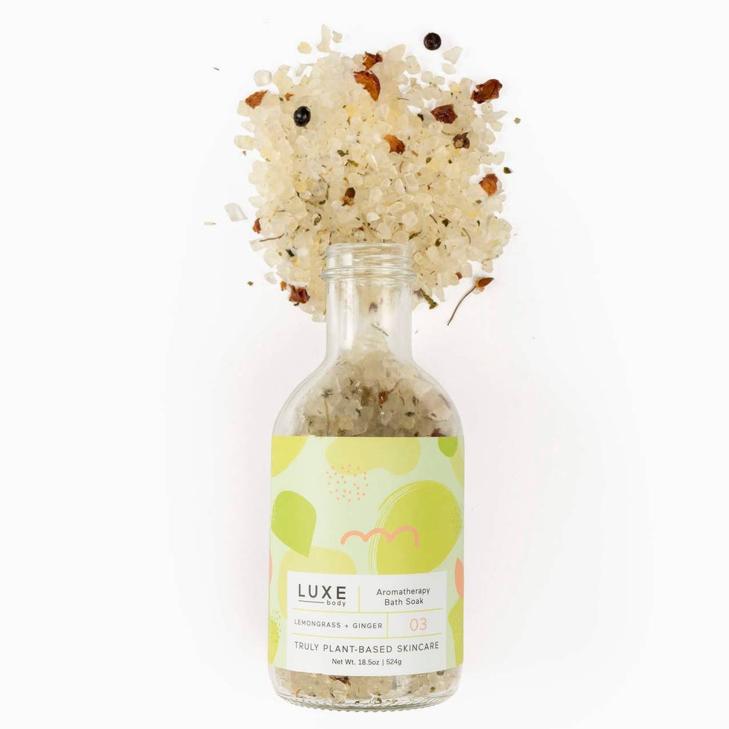 Luxe Lemongrass + Ginger Aromatherapy Bath Salt Soak