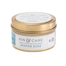 Load image into Gallery viewer, Kin & Care Winter Rose 4oz Candle