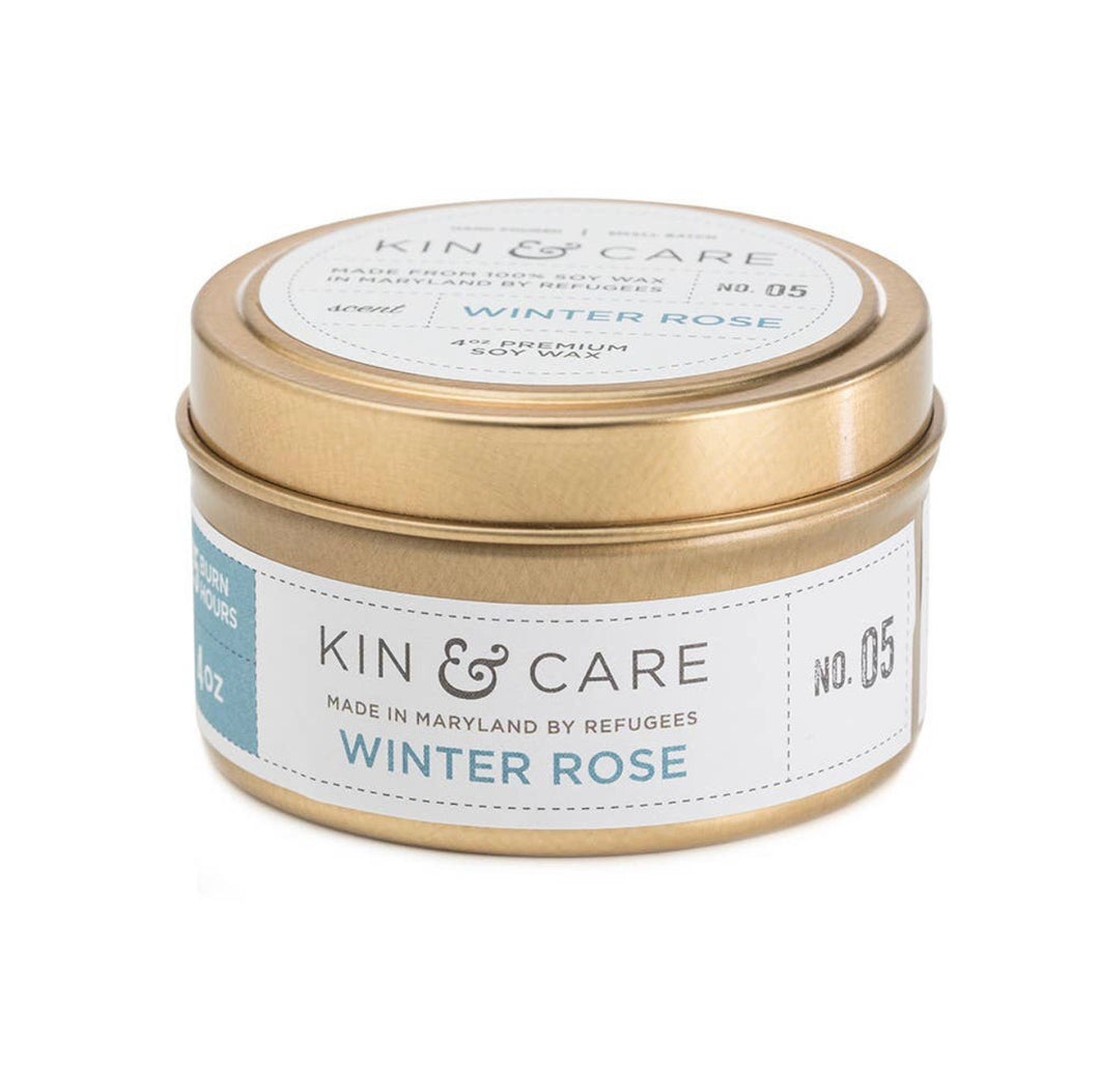 Kin & Care Winter Rose 4oz Candle
