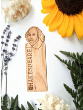 Load image into Gallery viewer, shakespeare hand engraved wooden bookmark