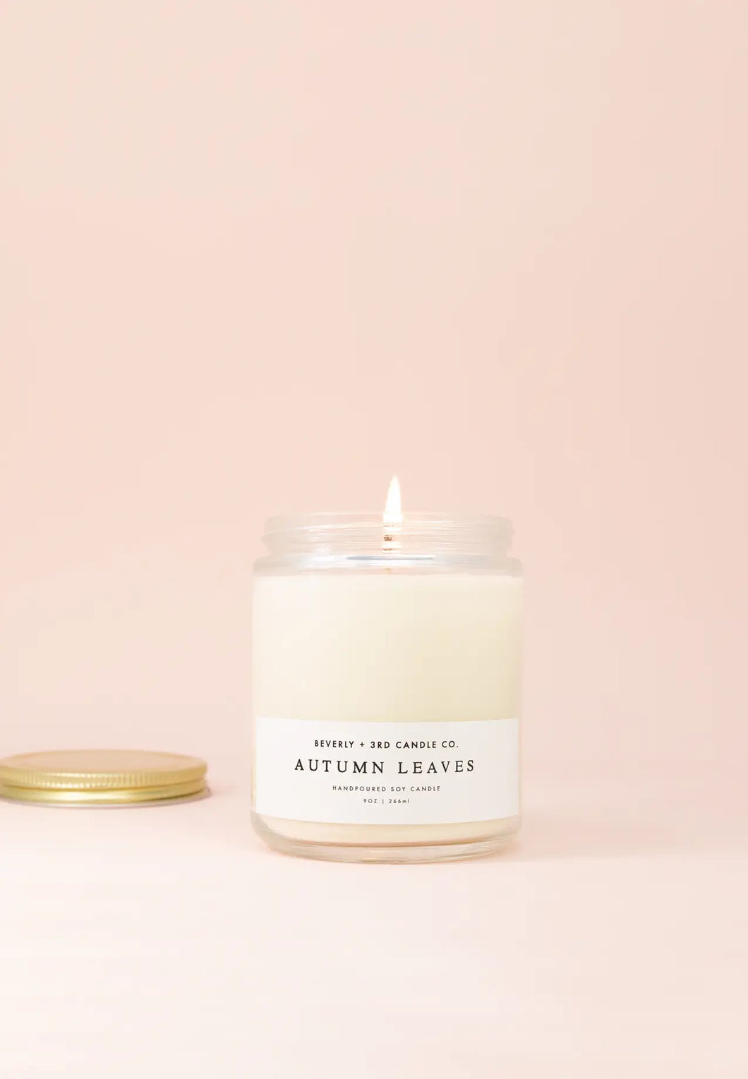 Beverly & 3rd Candle Co Autumn Leaves 9 oz Soy Candle