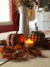 Load image into Gallery viewer, Gingham Stuffed Pumpkin