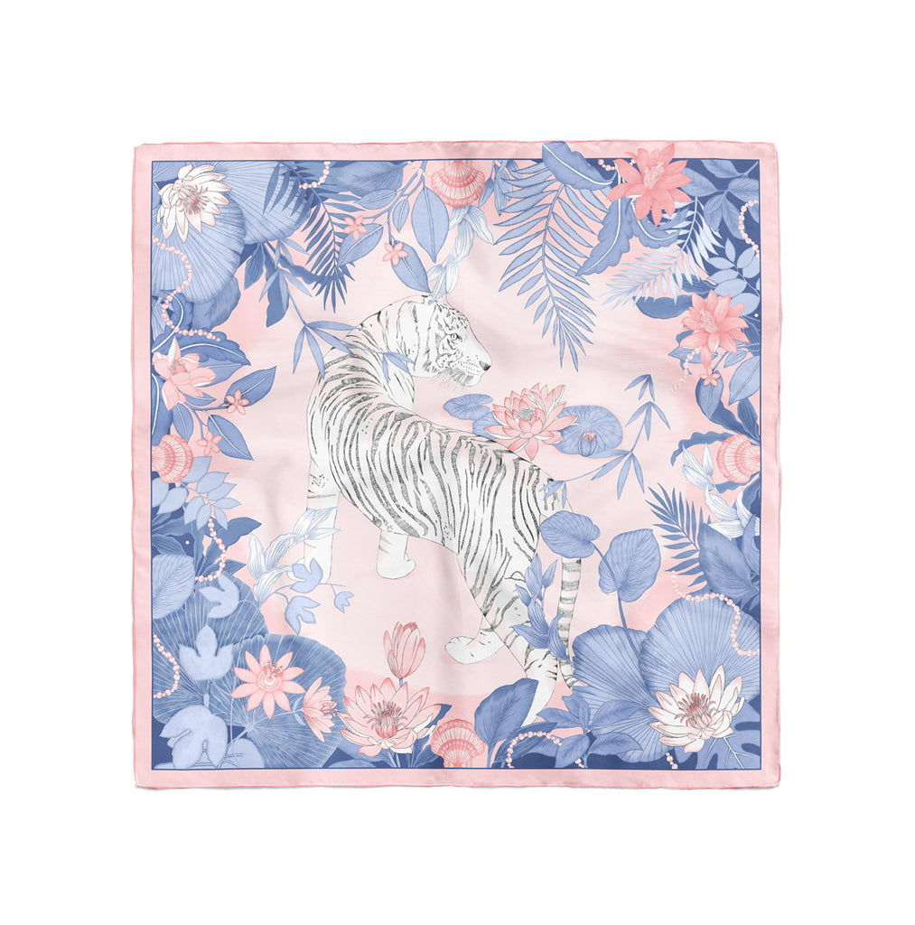 Pastel Tigress Silk Scarf