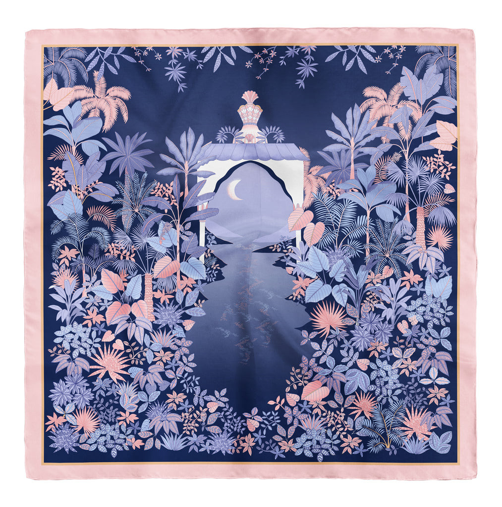Twilight Paradise Silk Twill Scarf