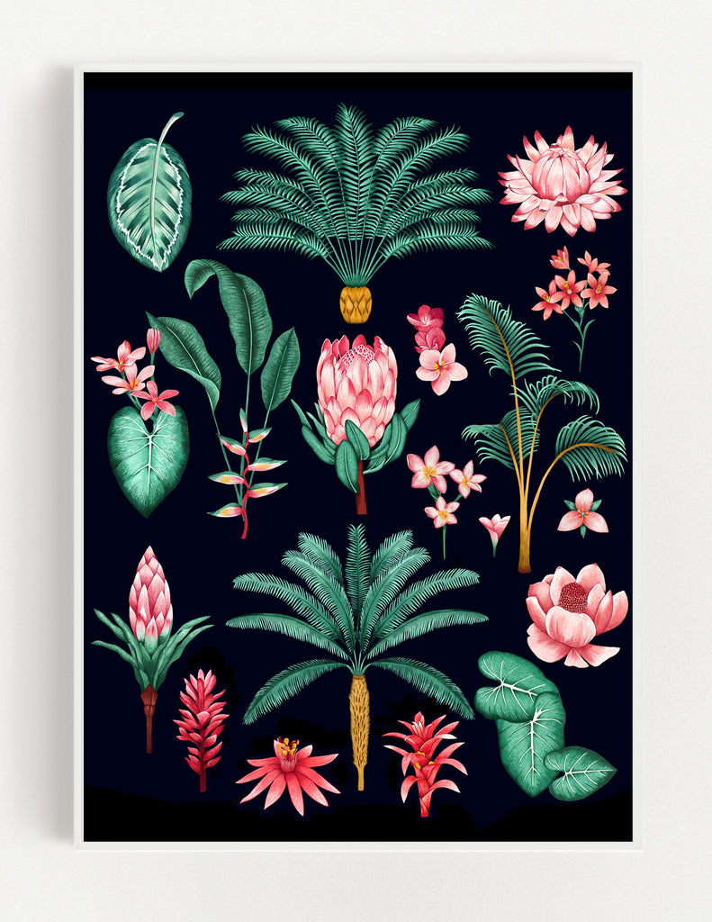 Tropical Study Print (Black)