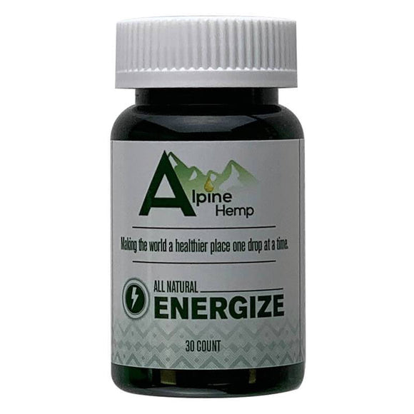 Alpine Hemp - CBD Capsule - Energize - 20mg - Natural Releaf CBD