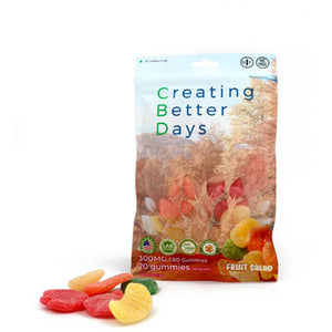 Creating Better Days - CBD Edible - Fruit Salad Gummies - 20pc-15mg - Natural Releaf CBD