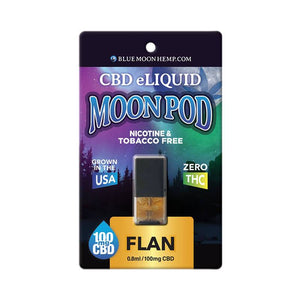 Blue Moon Hemp - CBD Pod - Flan Moon Pod - 100mg - Natural Releaf CBD