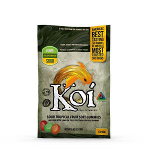 Koi CBD - CBD Edible - Sour Tropical Fruit Gummies - 10mg - Natural Releaf CBD