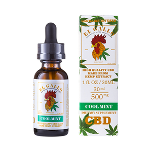 El Gallo - CBD Tincture - Cool Mint - 500mg - Natural Releaf CBD