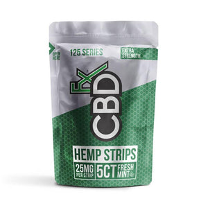 CBDfx - CBD Edible - Sublingual Strips - 25mg - Natural Releaf CBD