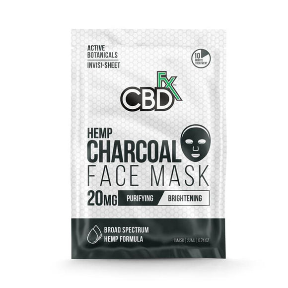 CBDfx - CBD Face Mask - Charcoal - 20mg - Natural Releaf CBD