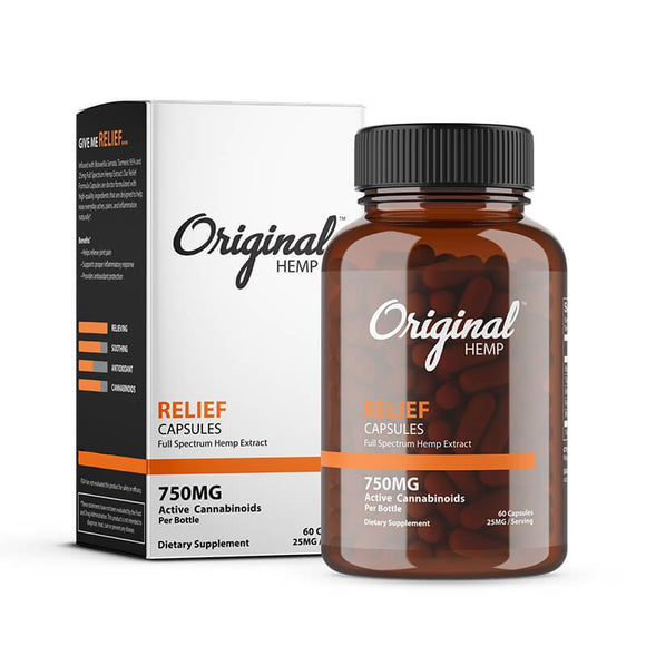 Original Hemp - CBD Capsule - Relief - 750mg - Natural Releaf CBD