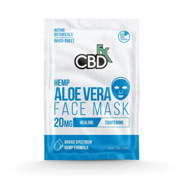 CBDfx - CBD Face Mask - Aloe Vera - 20mg - Natural Releaf CBD