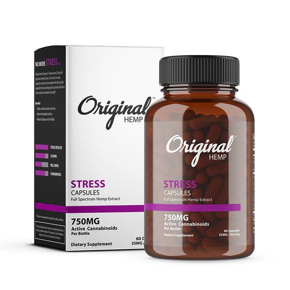 Original Hemp - CBD Capsule - Stress - 750mg - Natural Releaf CBD
