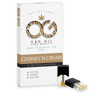 OG Labs - CBD Cartridge - Cookies N Cream CBD Pod - 500mg (4 Pack) - Natural Releaf CBD