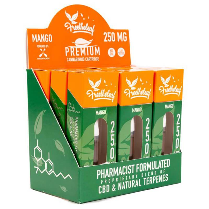 Free The Leaf - CBD Cartridge - Mango - 250mg-500mg