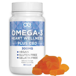 OG Labs - CBD Edible - Omega-3 Hearth Wellness Vitamin Gummies - 60pc-5mg - Natural Releaf CBD
