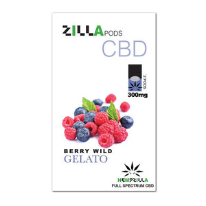 Hempzilla - CBD Pod - Berry Wild Gelato Zilla Pods - 2pc-300mg - Natural Releaf CBD
