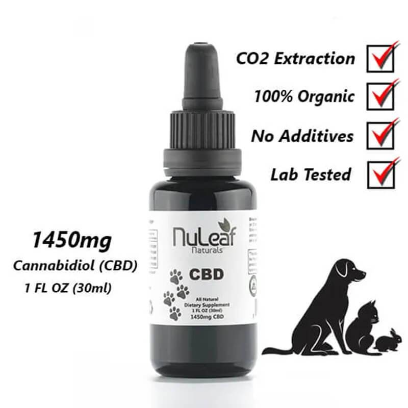 NuLeaf Naturals - CBD Pet Tincture - Full Spectrum Extract - 240mg-1450mg