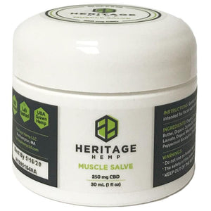 Heritage Hemp - CBD Topical - Muscle Salve 30ml - 250mg