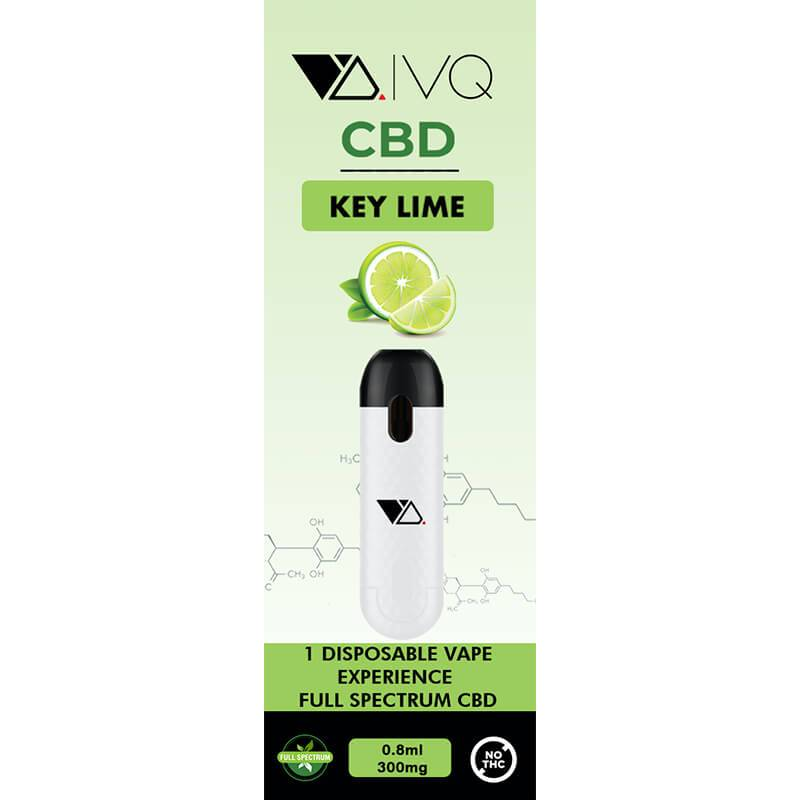 VQ CBD - CBD Disposable Vape Pen - Key Lime - 300mg-500mg