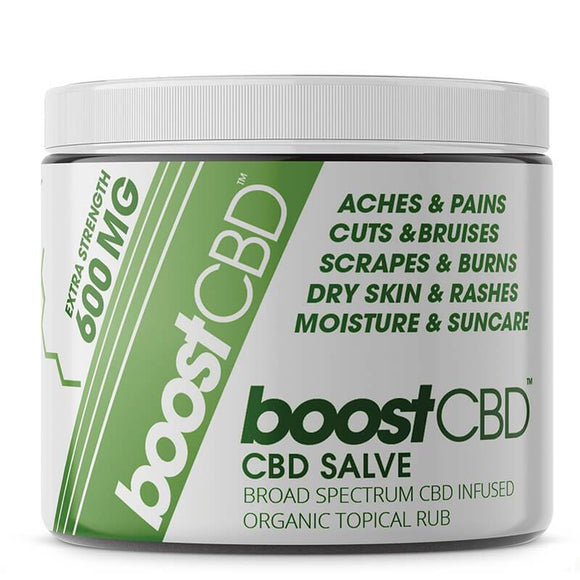 BoostCBD - CBD Topical - Max Strength Infused Salve - 4oz - Natural Releaf CBD