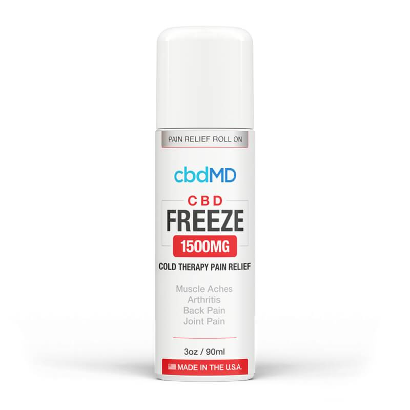 cbdMD - CBD Topical - Freeze Cold Therapy - 300mg-1500mg - Natural Releaf CBD