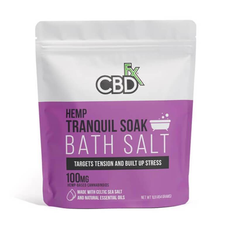 CBDfx - CBD Bath - Tranquil Bath Salt - 100mg - Natural Releaf CBD
