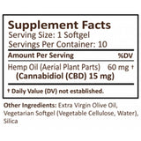 PlusCBD Oil - CBD Softgels - Gold Blend Full Spectrum - 15mg - Natural Releaf CBD