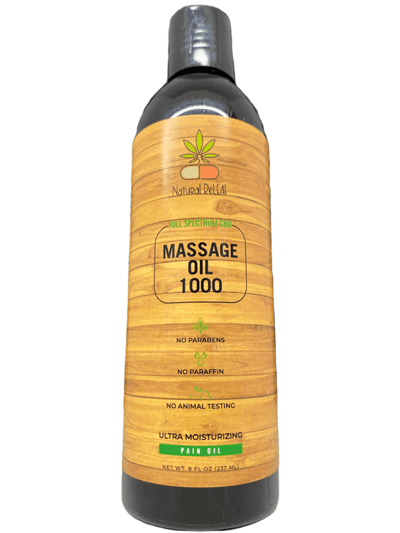 Natural Releaf CBD Massage Oil 1000mg