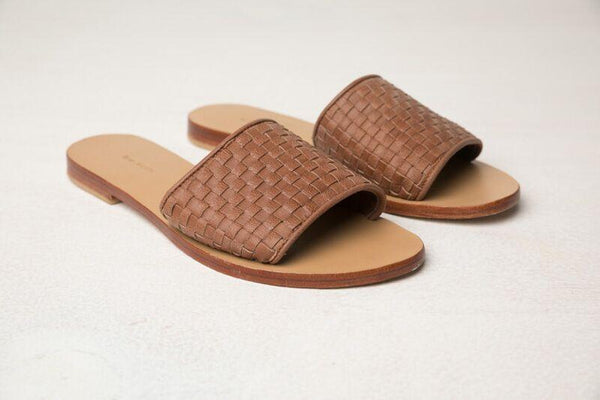 RUE STIIC The Lone Leather Slide - Tan