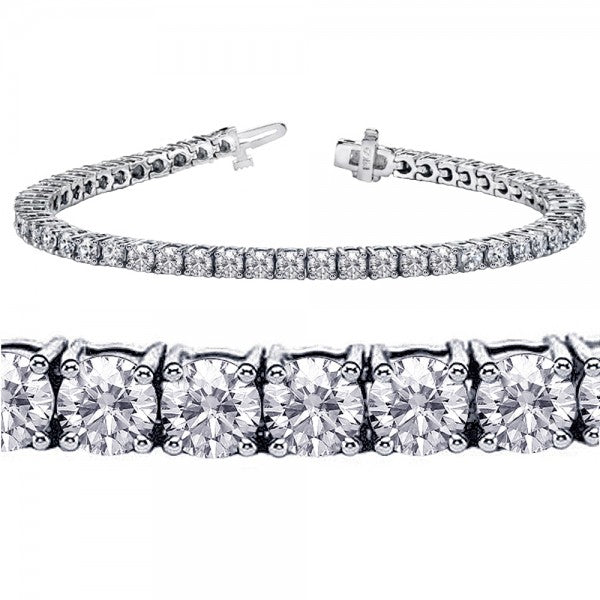 18K White Gold 9 carat Diamond Tennis Bracelet