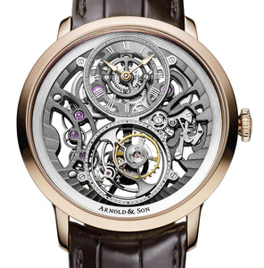 Arnold & Son 18k White Gold Ultra Thin Tourbillon Escapement Watch