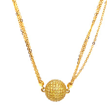 Load image into Gallery viewer, 18K Yellow Gold Pave Diamond Necklace
